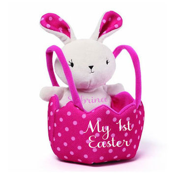Easter Basket and Easter Bunny Personalized Set for Girl, My First Easter, girl first easter baskets First Easter Bunny, First Easter Basket