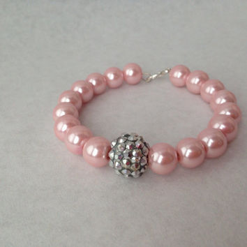 Pink and Silver Memory Wire Bracelet