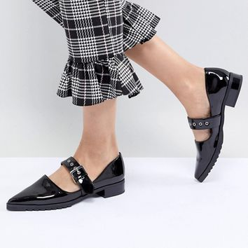 Monki Patent Pointed Flat Shoe at asos.com