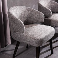 Carlton Modern Grey Fabric Dining Chair