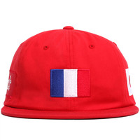 World Team Unstructured Strapback Hat Red