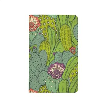 Cactus Flower Pattern Pocket Journal
