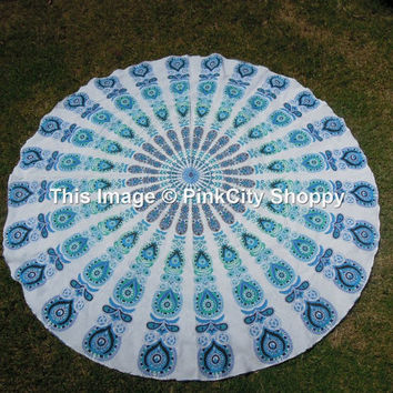 Indian Mandala Round Roundie Beach Throw Beach Towel Wall Hanging Round Yoga Mat Hippy Hippy Boho Gypsy Round Mandala Covers Mandala Wall