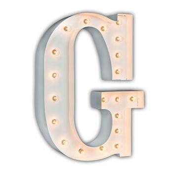 """24"""" Letter G Lighted Marquee Letters (White Gloss)"""