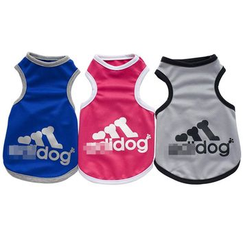 New Fashion Sports Dog Clothes T Shirt Costume Yorkshire Chihuahua Puppy Pet Dog Clothing Cool Summer Cat Dog Shirt Vest S-XXL