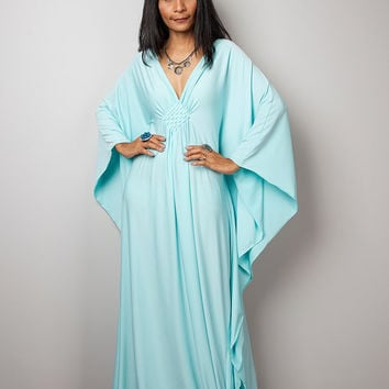 Mint Maxi Dress - Kaftan Kimono Butterfly Dress: Funky Elegant Collection No.1s