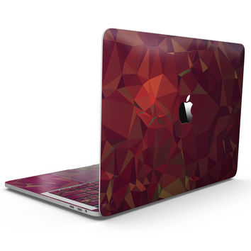 Red Geometric V2 - MacBook Pro with Touch Bar Skin Kit