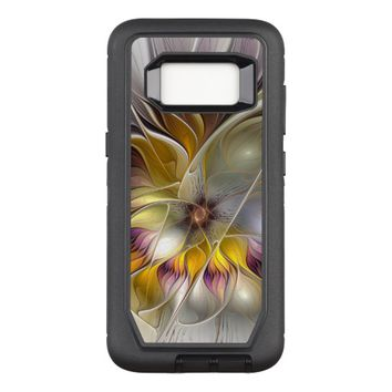 Abstract Colorful Fantasy Flower Modern Fractal OtterBox Defender Samsung Galaxy S8 Case