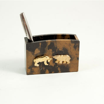 """Stock Market"" Pencil Box, T.P."