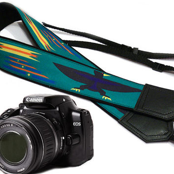 Native American Camera strap (inspired by). Eagle Ethnic Camera strap.  DSLR Camera Strap. Camera accessories.  Nikon Canon. Bird