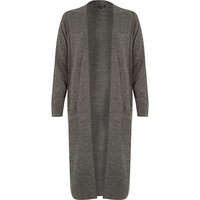 River Island Womens Grey long cardigan
