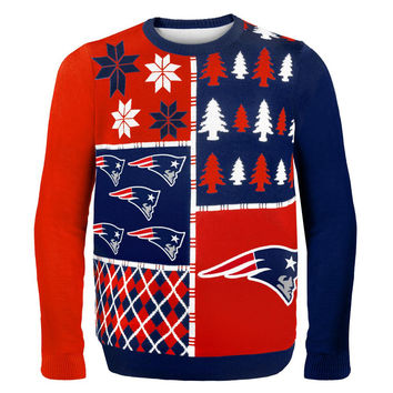 New England Patriots - Busy Block Ugly Christmas Sweater
