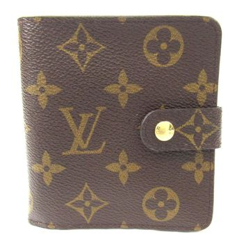 LOUIS VUITTON Compact Zip Bifold Wallet Monogram Canvas Brown M61667