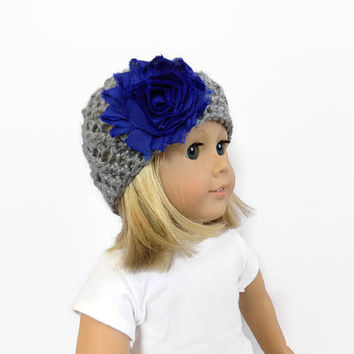 Doll Hat, Knit Doll Clothes, 18 Inch Doll Clothes, Doll Accessories