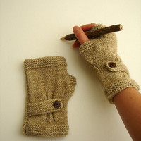 Autumn Finds/ Arm Warmer / Hand Knit Fingerless Gloves  / Medium size fits most. / Autumn color/ Front Page