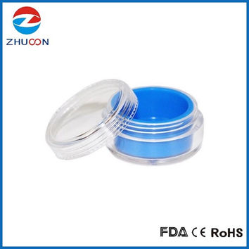 Smoking Accessories Vacuum Jar For Glass Water Pipe Silicone Dab Rig Dry Herb BHO Oil Small Plastic Container