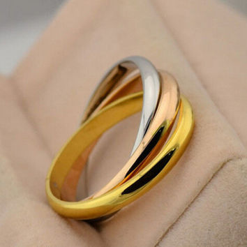 Jewelry Stylish Gift Shiny New Arrival Mixed-color Ring [6573102407]