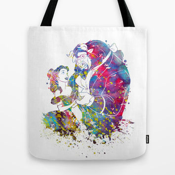 Beauty and the Beast Tote Bag by Bitter Moon