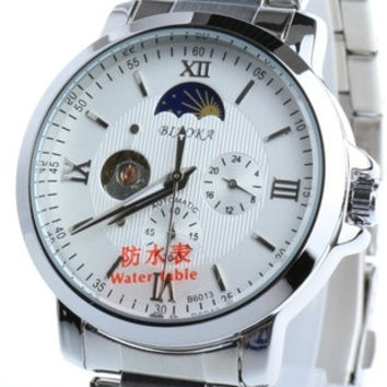 May be soaked with stars male watch steel waterproof automatic mechanical watch men watch