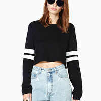 2016 Western Fashion Cropped Sport Casual Pullover Tracksuits Women Hoodies Contrast Color Striped Long Sleeve Cotton Sweatshirt