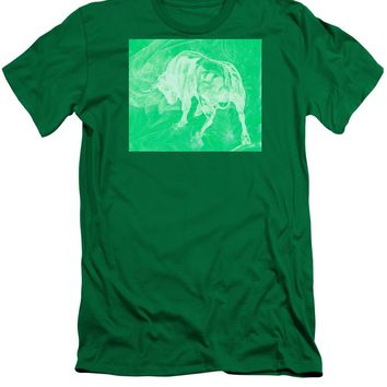 Green Bull Negative - Men's T-Shirt (Athletic Fit)