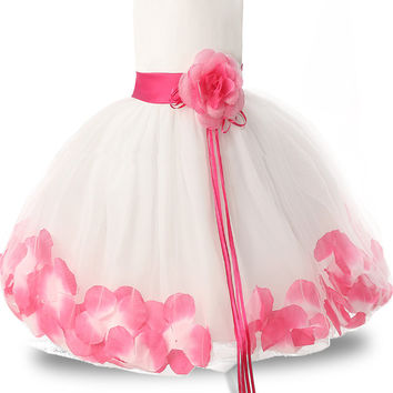 Fairy Baby Girl Floral Dress Fluffy Tulle Wedding Bridal Gown Dresses For Girls Kids Prom Party Wear Children's Princess Costume