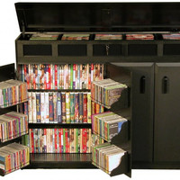 "Top Load Media Cabinet - Black (Black) (37.25""H x 48.5""W x 13""D)"
