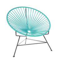 Sunburst Hoop Modern Lounge Chair in Turquoise