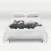 Bear Brothers Duvet Cover by Cafelab
