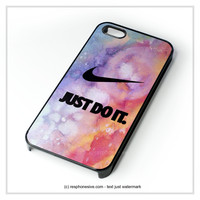 Nike Just Do It Glitter iPhone 4 4S 5 5S 5C 6 6 Plus , iPod 4 5  , Samsung Galaxy S3 S4 S5 Note 3 Note 4 , and HTC One X M7 M8 Case