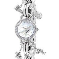 Women's Game Time Watches 'College - West Virginia University' Charm Bracelet Watch, 23mm
