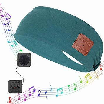 Bluetooth Headband Music Sweatband,Coeuspow Fashion V4.1 Wireless Smart Music Head Wrap Hair Band with HD Stereo Speaker & CVC 6.0 Noise cancelling Microphone for Running,Yoga,Hiking,Gym -Green