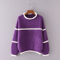 Casual All-match Loose Knit Sweater