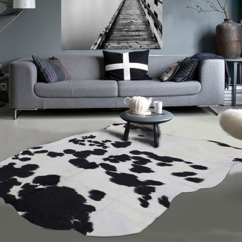 Premium 100% Real Argentinian Black & White Cow Hides Design: 6