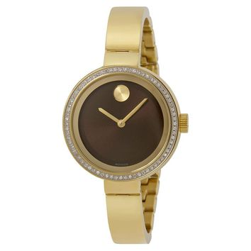 Movado Bold Yellow Gold Ion-plated Stainless Steel Ladies Watch 3600282