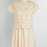 Festival Mid-length Short Sleeves A-line Counting the Daisies Dress by ModCloth