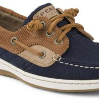 Sperry Top-Sider Ivyfish 3-Eye Boat Shoe Cognac/Navy, Size 7.5M  Women's Shoes