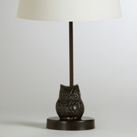 Owl Metal Accent Lamp Base - World Market