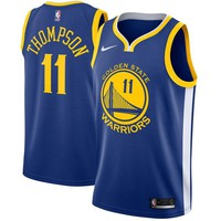 Klay Thompson Golden State Warriors # 11 Nike Blue Swingman Icon Edition Jersey - Best Deal Online