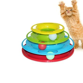 Crazy Ball Disk Interactive Turntable Cat Toy