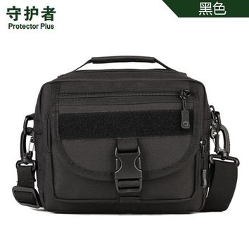 Sports gym bag Protector Plus K315 Outdoor  Camouflage Nylon Tactical Military Molle EDC Pouch Hiking Cycling Messenger Bag KO_5_1