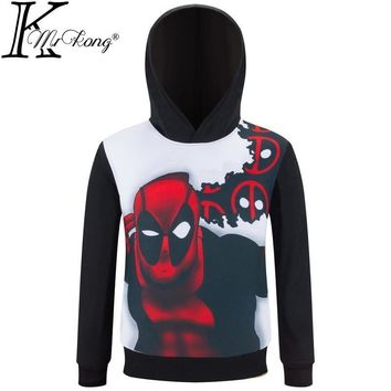 Deadpool Dead pool Taco  Cosplay Costume 3D T Shirt  Autumn Long Sleeved Tee Shirt Hooded T-shirt For Kids Boys Anime super hero clothes AT_70_6