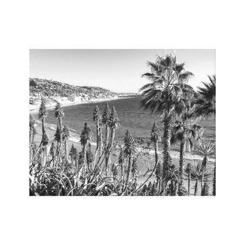 Beautiful Nature Beach Palm Trees Wrapped Canvas