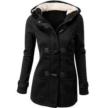 Long Sleeve Cotton Blend Fashion Women Windbreaker Outwear Warm Wool Slim Long Coat Trench vicky