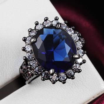 Black Princess Premium Gemstone Ring