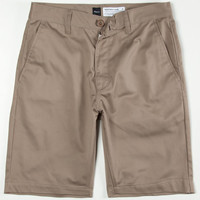 Rvca Week-End Mens Slim Shorts Dark Khaki  In Sizes