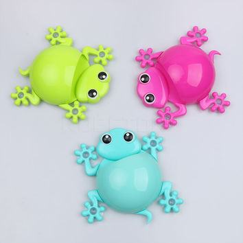 Creative Gecko Cartoon Toothbrush Holder Toothpaste Container Wall Sucker Suction Hook Bathroom Sets 1pcs