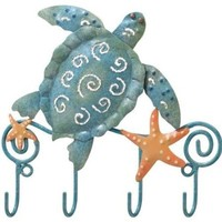 Hanging Hooks Key Rack Sea Turtle - Regal Art #5031