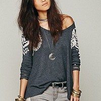 Free People  Rockabilly Raglan Printed at Free People Clothing Boutique