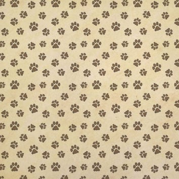 Grungy Pet Paw Prints Kraft Gift Wrapping Paper - No. 1